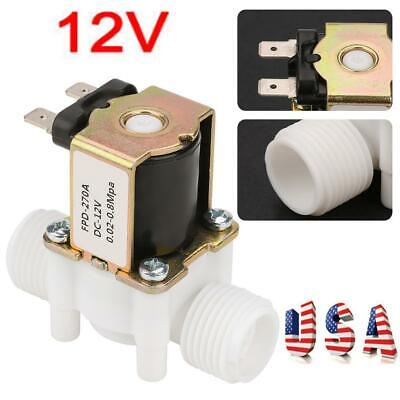 12v G12 Nc Plastic Electric Solenoid Valve Magnetic Water Air Normally Closed