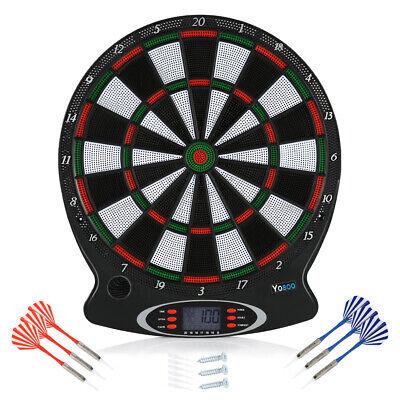 """15""""Dartscheibe Dartboard Dartspiel Wurfpfeil Score Display mit 6tlg Darts HOT"""
