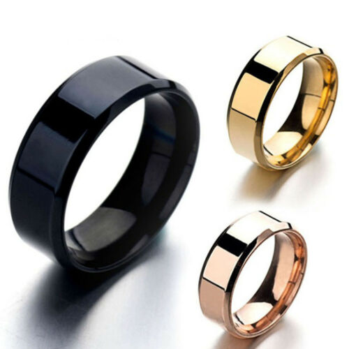 Simple Men Titanium Stainless Ring Lover Couple Rings Jewelr