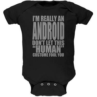 Halloween Human Android Costume Soft Baby One Piece - Android Halloween