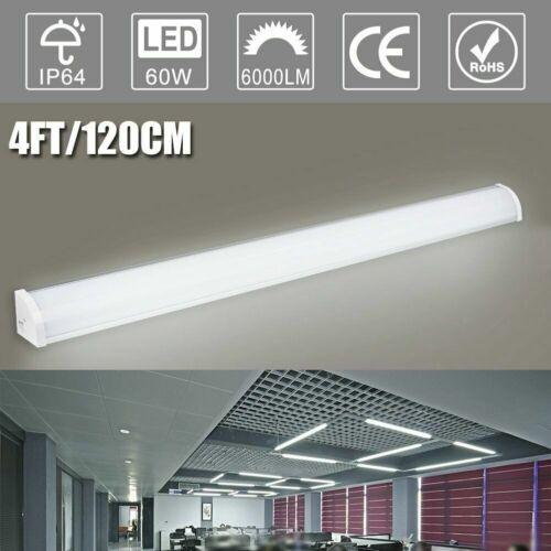 2X 4FT LED Batten Tube Light For Garage Workshop Ceiling Panel Neutral White UK