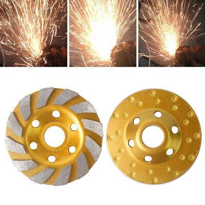 4 Diamond Segment Grinding Wheel Cup Disc Grinder Concrete Granite Stone Cut Us