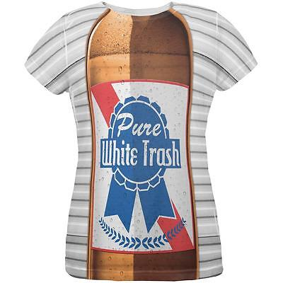 4th of July Halloween Pure White Trash Beer Costume All Over Womens T Shirt