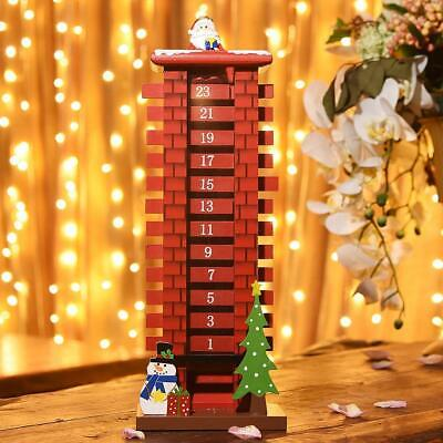 Wooden Advent Calendar Countdown to Christmas for Xmas Holiday Decoration,15inch ()