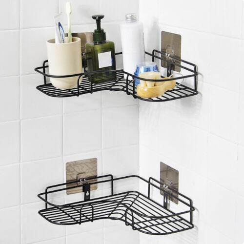 Stainless Steel Bathroom Shower Shelf Storage Holders Suction Basket Caddy Rack