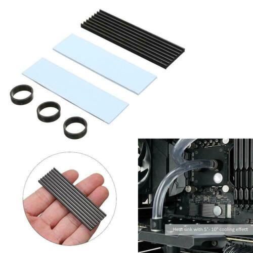 1 Set Of M.2 NGFF NVMe 2280 PCIE SSD Aluminum Cooling Heat Sink With Thermal Pad