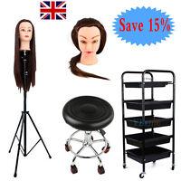 Beauty Salon Trolley Cart +mannequin Tripod Head Holder+table+training Head Tool - unbranded - ebay.co.uk