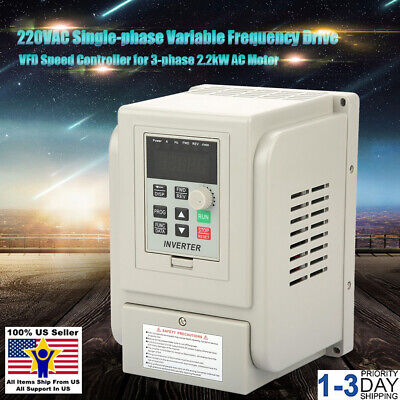 3HP 2.2KW Variable Frequency Drive Inverter Single To 3 Phase CNC VFD VSD 400Hz