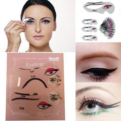 2er SET Eyeliner Schablone Lidschatten Augenbrauen Hilfe Eye Liner Schablonen