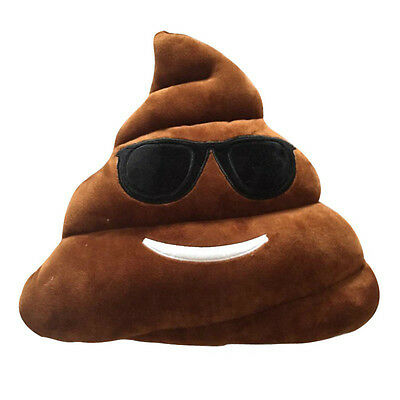 EMOTICON EMOJI BROWN TRIANGLE CUSHION PILLOW STUFFED PLUSH TOY COOL POOP](Poop Emoticon Pillow)