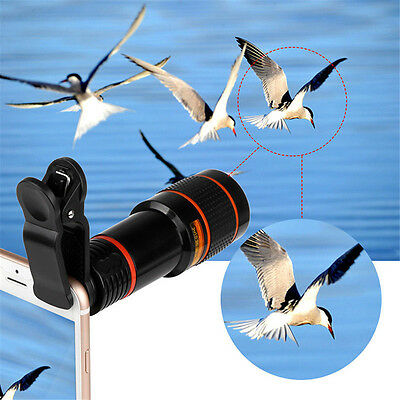 8x Zoom Optical Lens Telescope+Universal  Clamp Camera For Mobile Cell Phone