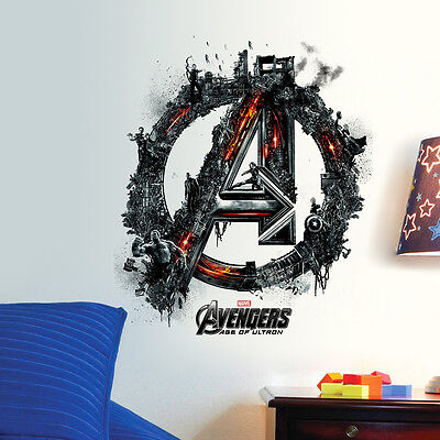 The Avengers Super Hero Art Wall Sticker Kids BOY Room Decor Decals Removable