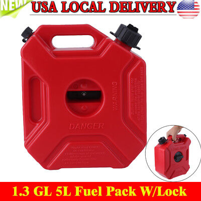 1.3gallon Gas Spare Container Fuel Pack Can With Mounting Kit Atv Utv Off Road E