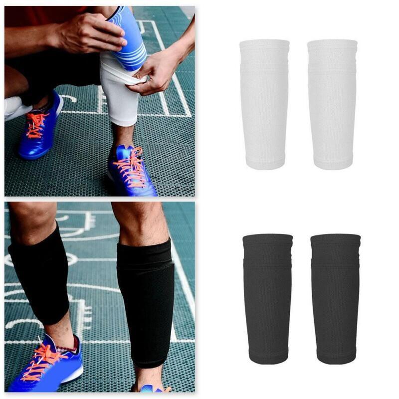 Men Soccer Shin Pads Holder Instep Foot Socks Guard Protecto