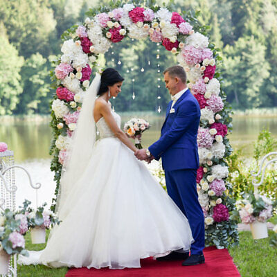Table Decorations For Prom (Large White Metal Arch for Wedding Party Bridal Prom Garden Floral)