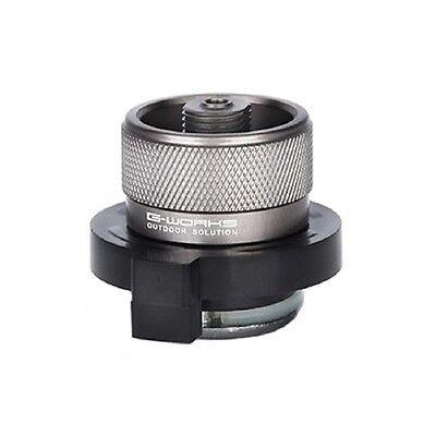G Works Butane Adapter Duralumin 40g Outdoor Convert cylinder type to screw