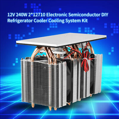 240w 2x12710 Electronic Semiconductor Diy Refrigerator Cooler Cooling System 12v