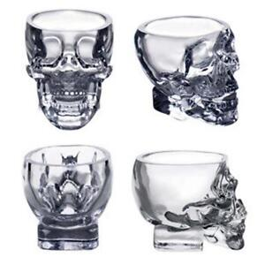 New Crystal Skull Head Vodka Whiskey Shot Glass Cup Drinking Ware Home ER