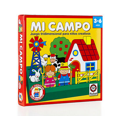 Mi Campo My Field Educational Board Game Juego Educacional Spanish Espanol