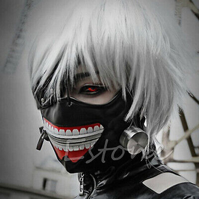 Einstellbare Cosplay Tokyo Ghoul Kaneki Ken Zipper Masken-Halloween-Party