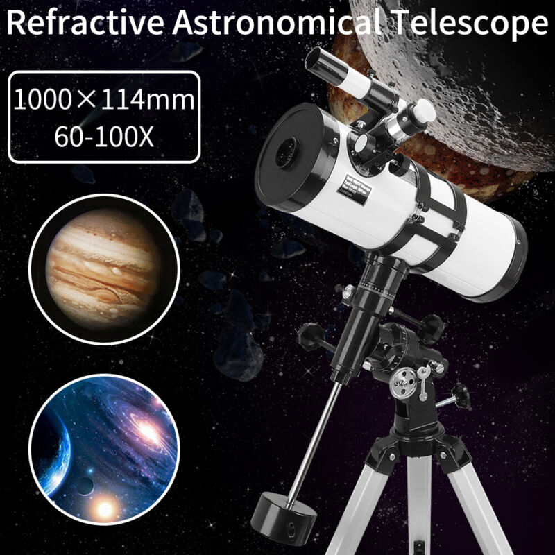 114-1000 Reflector Astronomical Telescope Space Moon Star Observer Night Vision