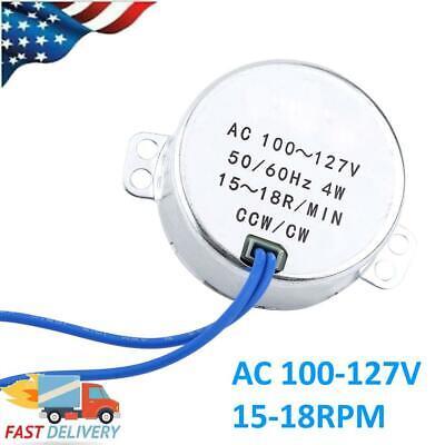 Synchronous Electric Motor 5060hz Ac 100-127v 4w Ccwcw Ac Motor 15-18rpm Us