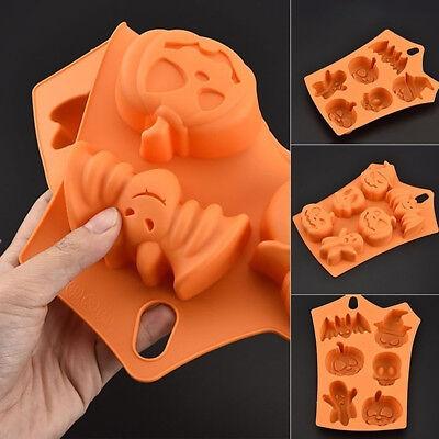 Pumpkin/Skull Design Silicone Baking Cake Mold Halloween Fondant - Halloween Pumpkin Fondant Cake