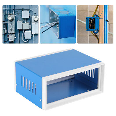 6.7 X 5.1 X 3.1 Blue Metal Enclosure Project Case Diy Junction Box
