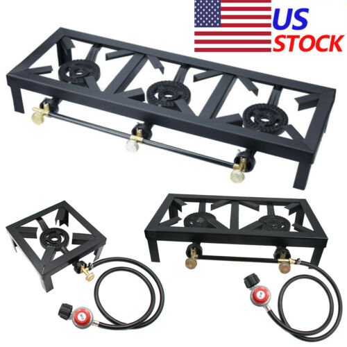 Gas Burner Stove BBQ Cooker Camping Stove Grill +High Pressu