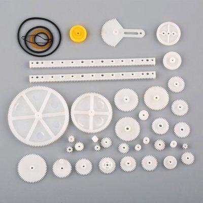 Us 34 Kinds Plastic Shaft Rack Reduction Worm Gears Belt Pulley Diy For Robot