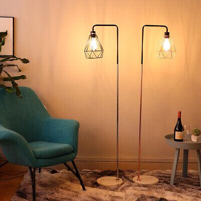 Geometric Modern Floor Lamp Marble Standing Lamps Metal Shade Vintage Industrial