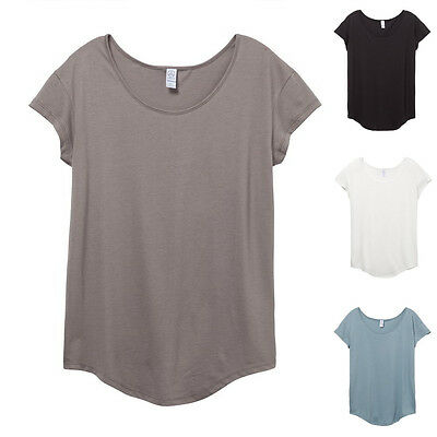 New Alternative Ladies Short Sleeve Womens Cotton Modal Essential T Shirt 3499
