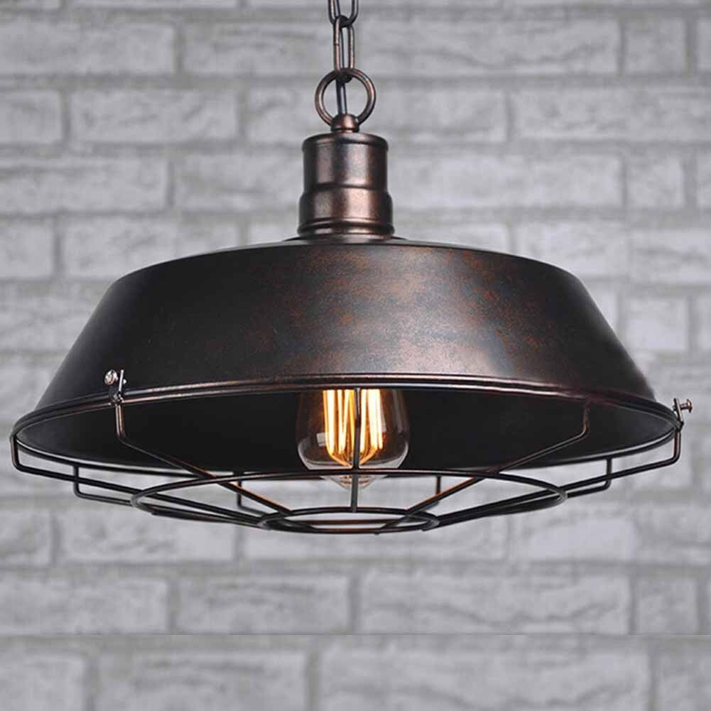 industrial rustic metal ceiling vintage retro chandelier led pendant lamp light ebay. Black Bedroom Furniture Sets. Home Design Ideas