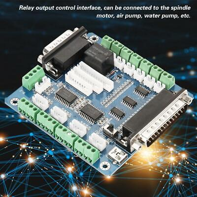 5 Cnc Interface Adapter Breakout Board For Stepper Motor Driver Mach3 Cable
