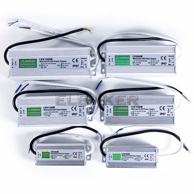 DC Power Supply Adapter Waterproof Transformer 12V 30W 60W 150W 200W LED -