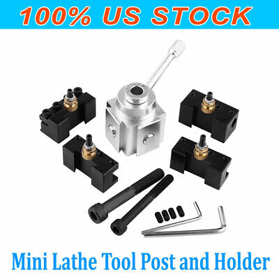 High Quality Aluminum Alloy Mini Lathe Tool Post And Holder Kit Set