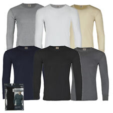 Therma Tek Men's Long Sleeve 100% Cotton Waffle Crew Neck Thermal Top Underwear
