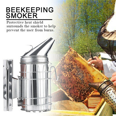 Stainless Steel Bee Hive Smoker Large Beekeeping Equipment With Hanging Hook Ml