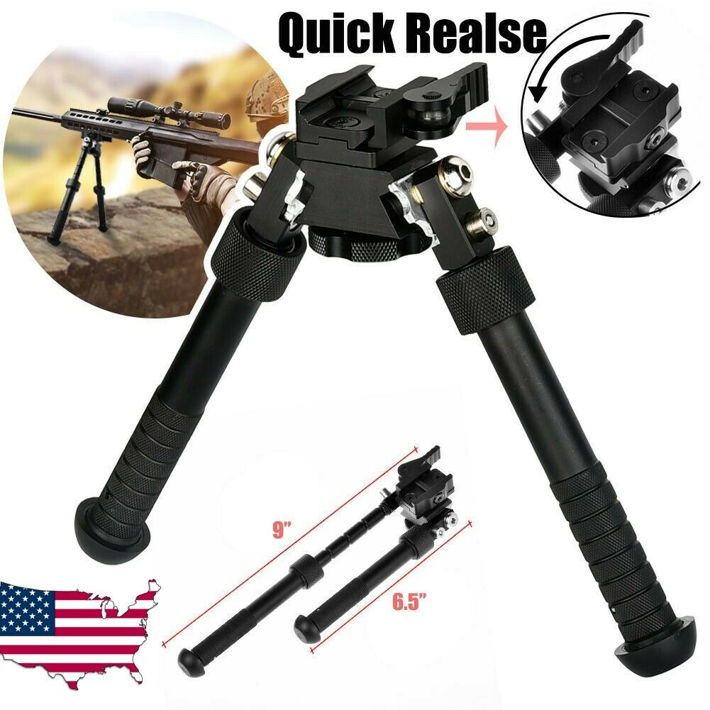 "CVLIFE Rifle Bipod Quick Detach Mount 6.5-9"" Adjustable Fit"