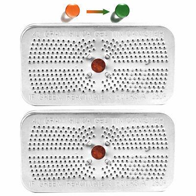 Reusable Silica Gel Desiccant Beads Dehumidifier Canister Safe 40 Gram 2 Packs