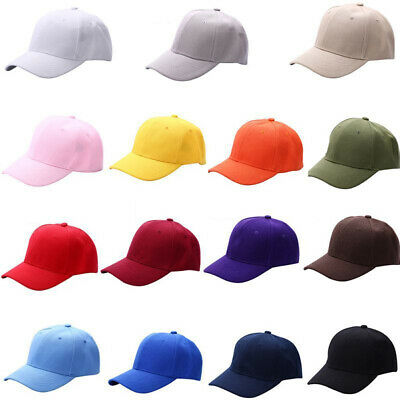 Fashion Women Men Plain Cap Cotton Adjustable Baseball Cap Blank Solid Hat Well Clothing, Shoes & Accessories