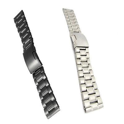 Steel Black Shark Mesh Watch Band Bracelet Strap 22mm LG G Watch R W110 W100 Black Mesh Bracelet Watch