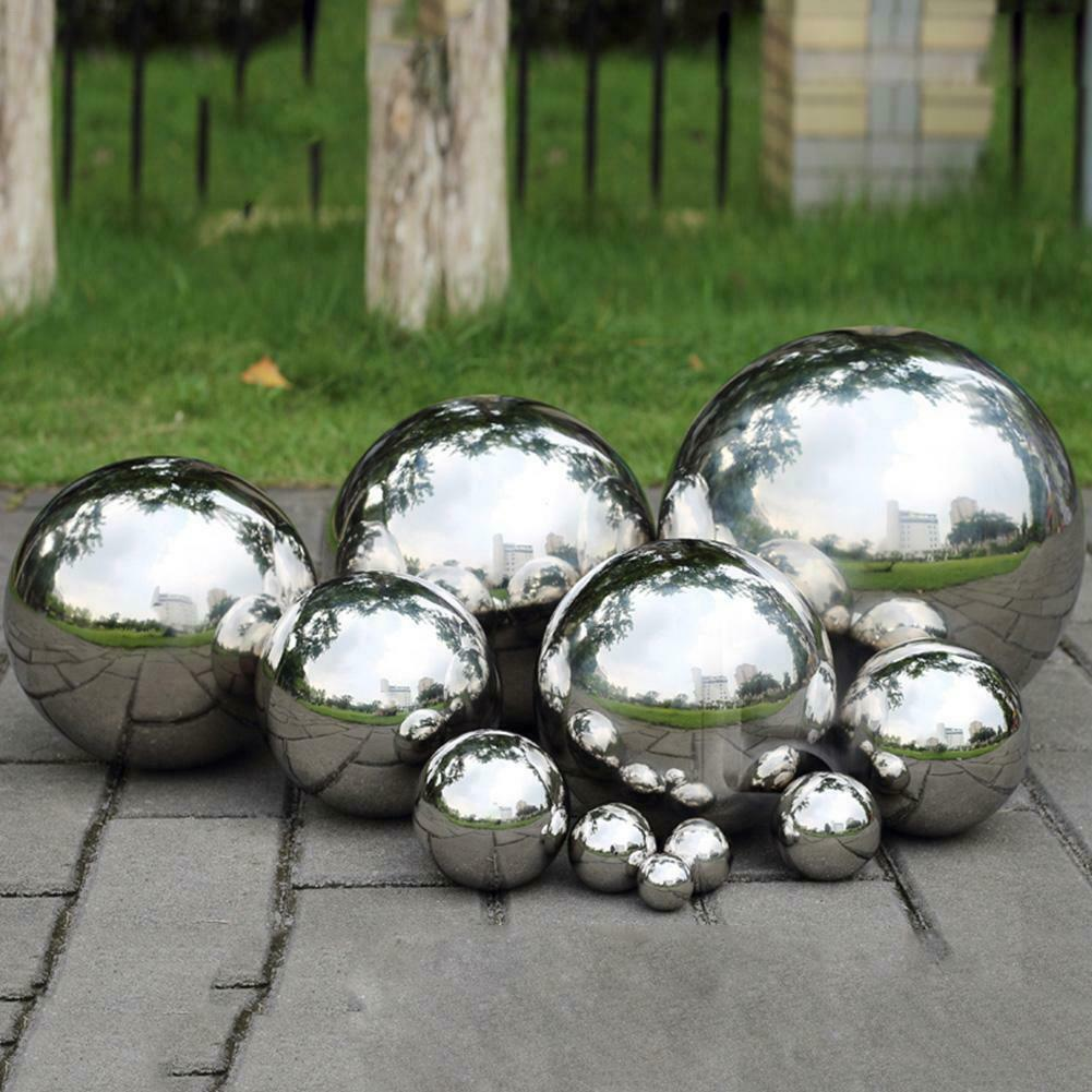 Stainless Ornament 19-300mm Sphere Steel Hollow Garden 304 Ball Mirror Round