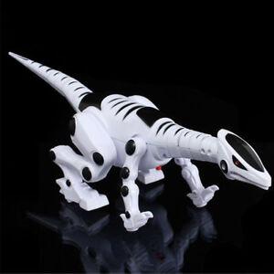 ROBOT DINOSAUR Toy Walking Real Sound Flashing Roboraptor Battery Operated T-REX