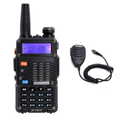 1x BaoFeng BF-F8HP 8W TRI-POWER Two Way Ham Radio Walkie Talkie w/ Accessories