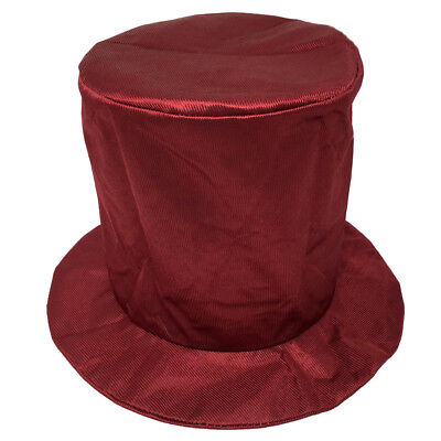 Adult Shiny Burgundy Top Hat ~ HALLOWEEN, COSTUME, NEW YEAR'S, BIRTHDAY, PARTY](New Years Top Hats)