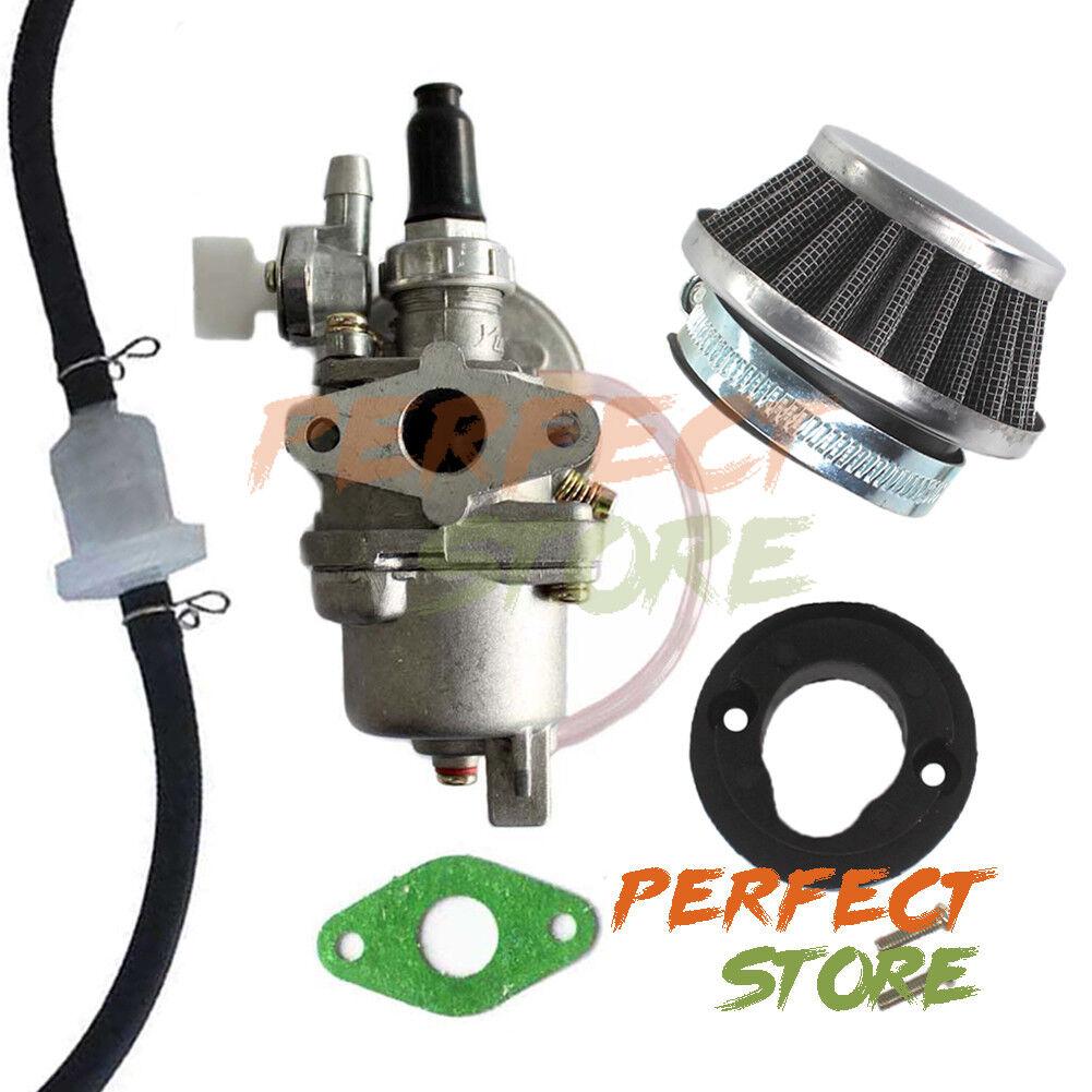 Complete Performance Carburetor Carb Air Filter Kit 47 cc 49 cc Pocket Mini Bike