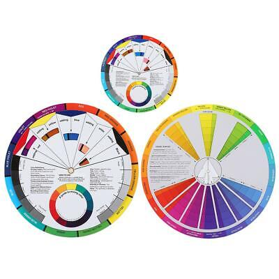 3PCS Color Wheel Color Mixing Guide, Tattoo Pigment Table Supplies for Paint