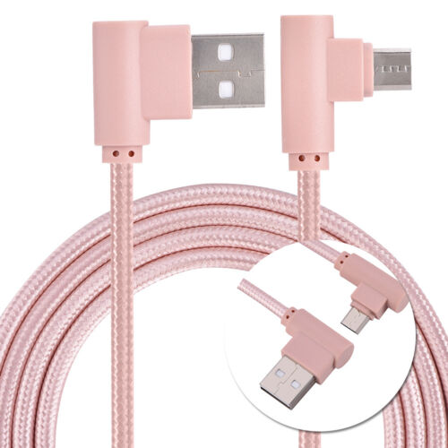 Nylon Braided 90 Degree USB 2A to Micro USB B Cable, Right A