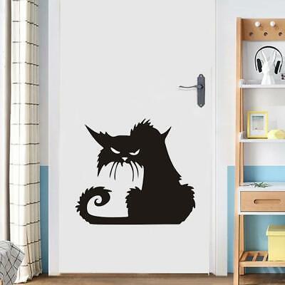 Halloween Favor Large Scary Black Cat Window Sticker Decor Wall Sticker best new